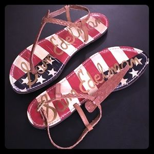 Sam Edelman American Flag USA 🇺🇸 GiGi Sandals 8M